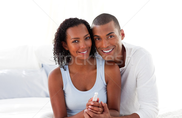 Jolly couple finding out results of a pregnancy test Stock photo © wavebreak_media