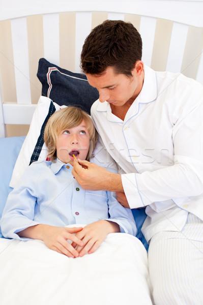 отец температура спальня семьи человека Сток-фото © wavebreak_media