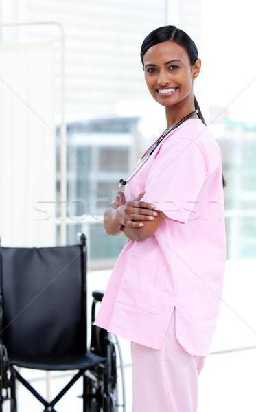 портрет медсестры больницу женщину улыбка врач Сток-фото © wavebreak_media