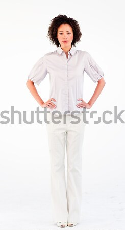 Young businesswoman with hands on hips Stock photo © wavebreak_media