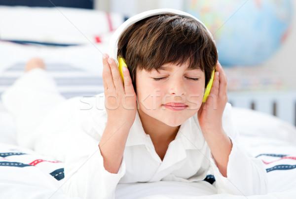 Cute chłopca muzyki sypialni dziewczyna dzieci Zdjęcia stock © wavebreak_media