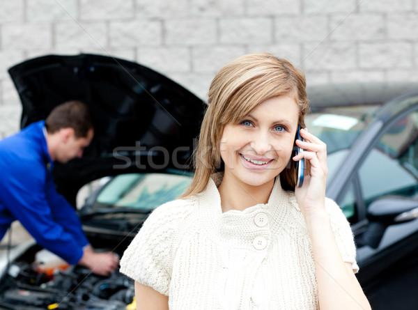 Homme noir voiture femme affaires Photo stock © wavebreak_media