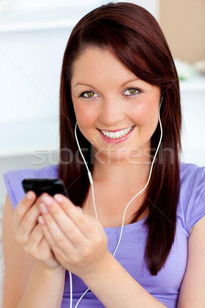 счастливым женщину слушать музыку Сток-фото © wavebreak_media