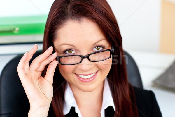 Femme d'affaires verres bureau affaires Photo stock © wavebreak_media