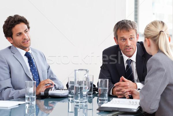 Coworkers during a meeting Stock photo © wavebreak_media