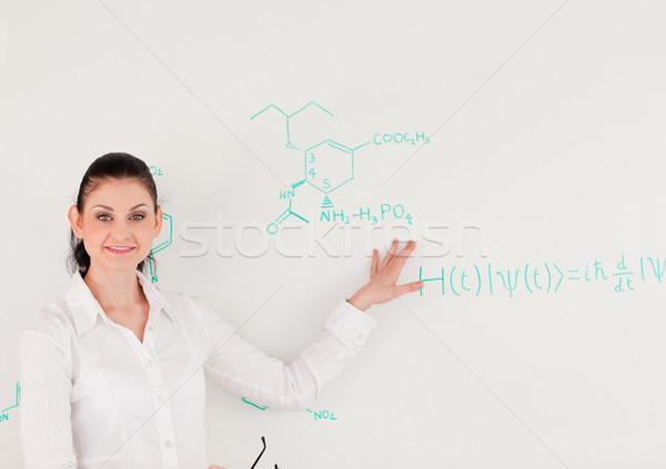 Vrouwelijke wetenschapper naar camera permanente Stockfoto © wavebreak_media