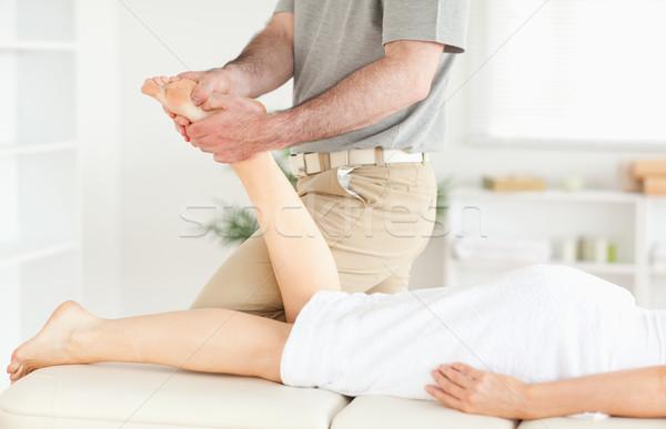 Massaggiatore piedi chirurgia mano sport Foto d'archivio © wavebreak_media