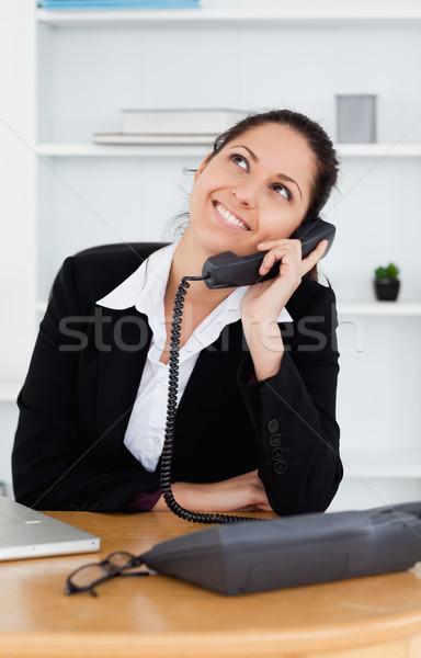 Stok fotoğraf: Sevimli · işkadını · ofis · iş · bilgisayar