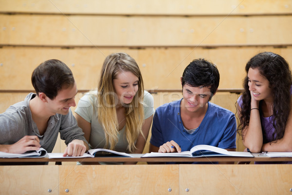 Students working together in an amphitheater Stock photo © wavebreak_media