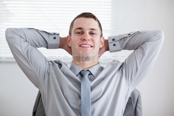 Close up of happy relaxed businessman Stock photo © wavebreak_media