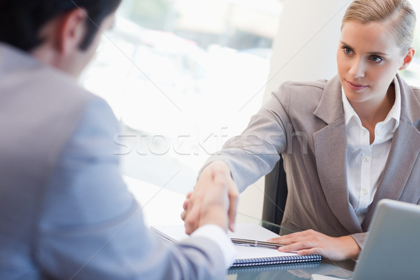 Serious manager interviewing a male applicant in her office Stock photo © wavebreak_media