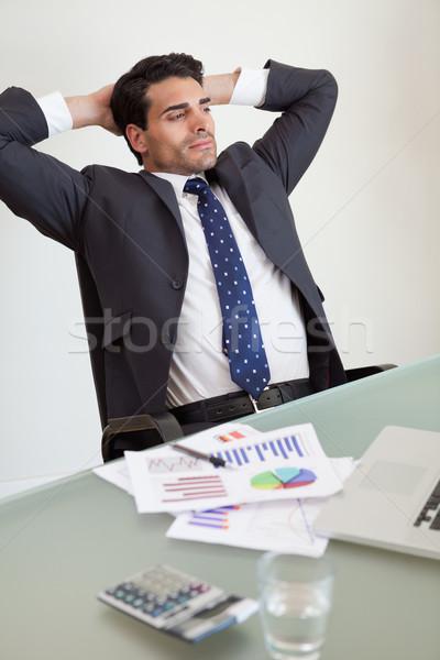 Portré nyugodt eladó személy iroda papír Stock fotó © wavebreak_media