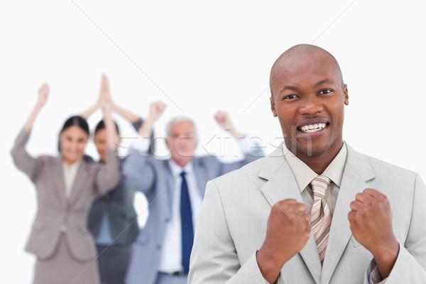 успешный бизнесмен команда за белый Сток-фото © wavebreak_media
