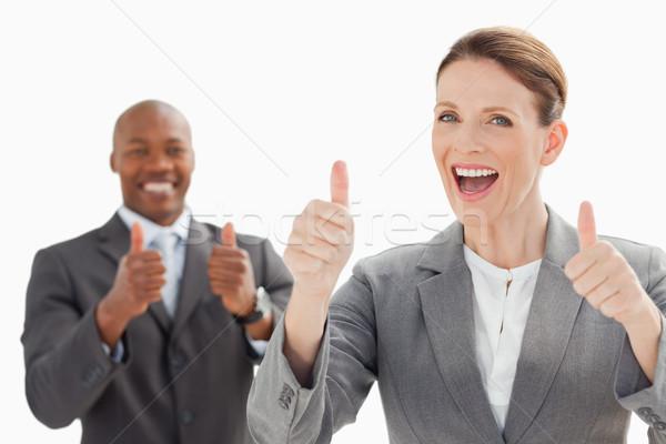 возбужденный глядя бизнеса улыбка Сток-фото © wavebreak_media