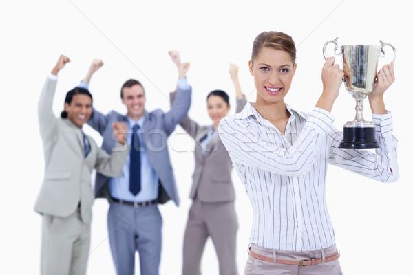 ストックフォト: クローズアップ · 女性 · カップ · 人 · スーツ