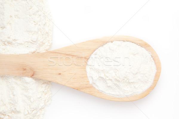 Meel witte achtergrond vintage koken Stockfoto © wavebreak_media