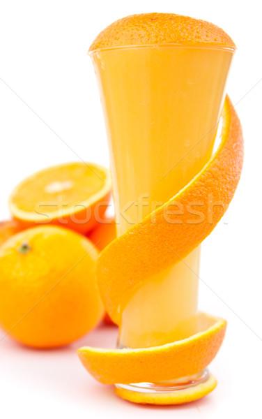 Orange peel wound around a glass Stock photo © wavebreak_media