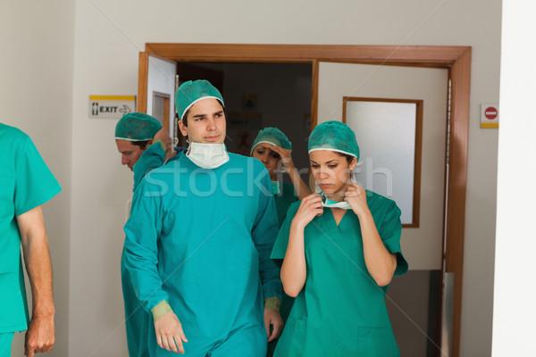 Foto d'archivio: Chirurgia · squadra · sala · operatoria · ospedale · medico · medici