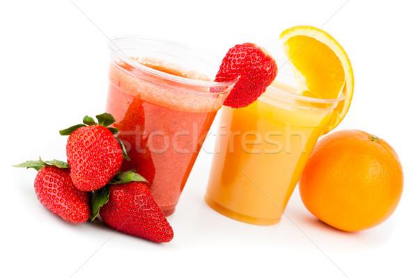 клубника апельсиновый сок клубники апельсинов оранжевый пить Сток-фото © wavebreak_media