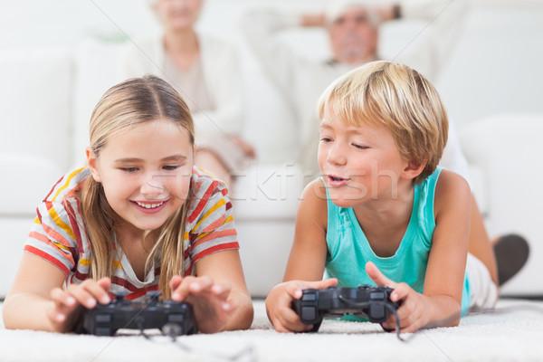 Siblings playing video games Stock photo © wavebreak_media
