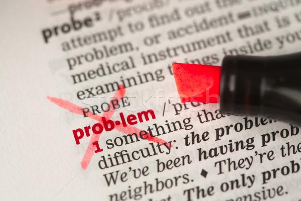 Probléma meghatározás szó ki szótár üzlet Stock fotó © wavebreak_media