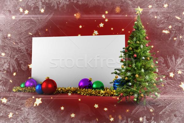 画像 ポスター クリスマスツリー 明るい 星 ストックフォト © wavebreak_media