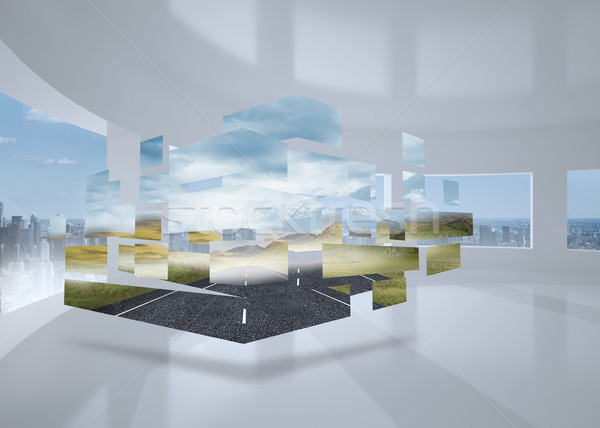 Image ouvrir route résumé écran Photo stock © wavebreak_media