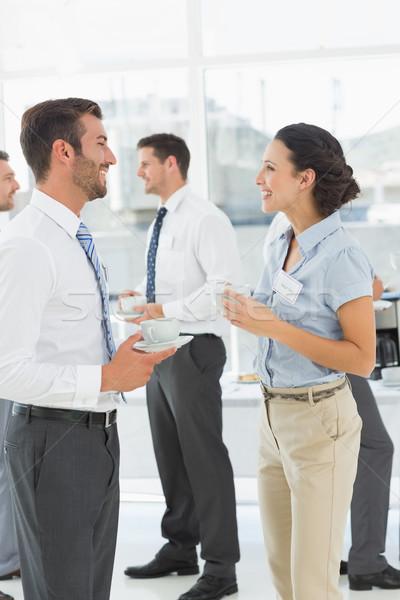 Kollegen Diskussion Pause Business hellen Stock foto © wavebreak_media
