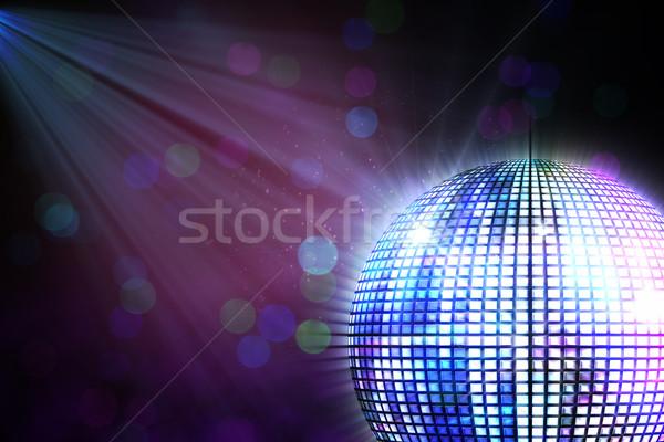 генерируется Disco Ball черный вечеринка Сток-фото © wavebreak_media