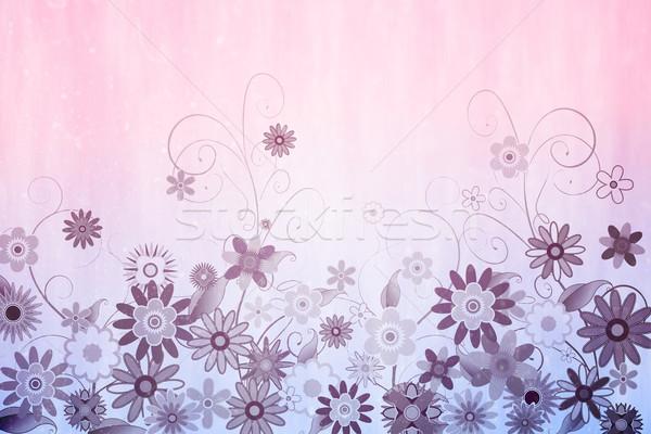 Cyfrowo wygenerowany kwiatowy projektu różowy Zdjęcia stock © wavebreak_media