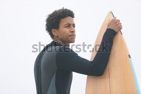 üzletasszony toló felfelé kezek fehér öltöny Stock fotó © wavebreak_media