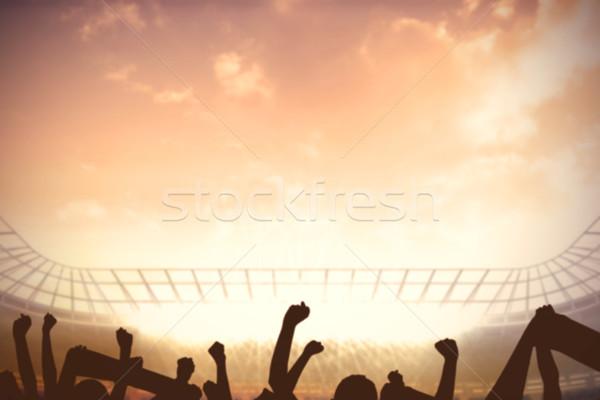 Football stadium with cheering crowd Stock photo © wavebreak_media