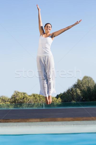 Glücklich Brünette spa Körper Stock foto © wavebreak_media