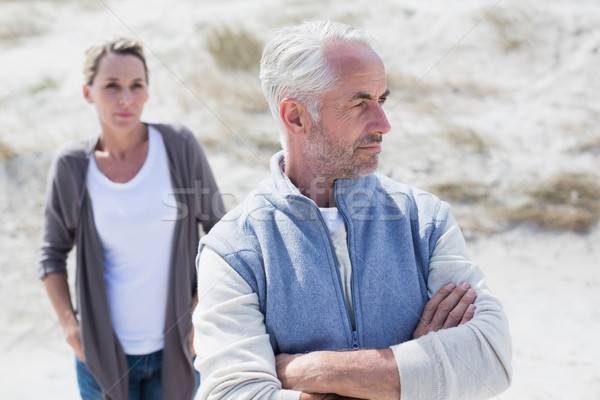 Couple not talking after argument on the beach Stock photo © wavebreak_media