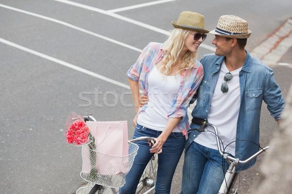бедро велосипедов город человека Сток-фото © wavebreak_media