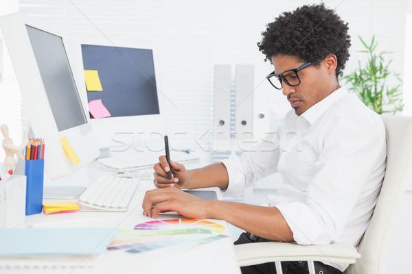 Tasarımcı çalışma büro ofis bilgisayar Stok fotoğraf © wavebreak_media
