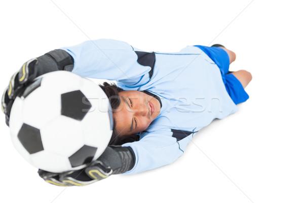 вратарь синий мяча белый человека Сток-фото © wavebreak_media