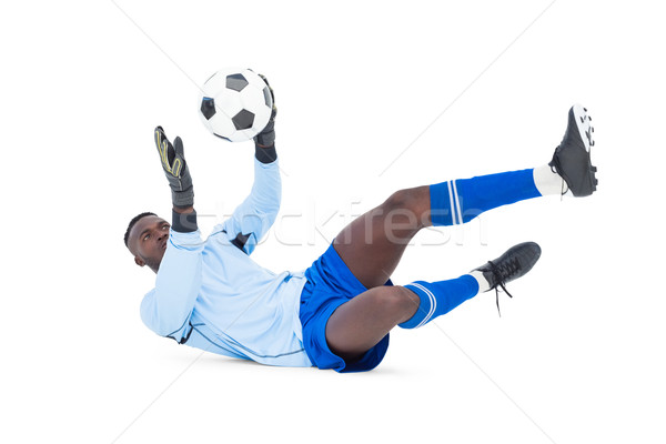 вратарь синий сохранить белый Футбол Сток-фото © wavebreak_media