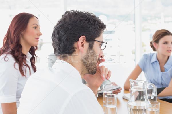 Equipo de negocios reunión trabajo oficina hombre de trabajo Foto stock © wavebreak_media