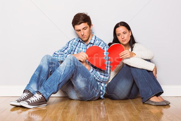 Sessão piso casa lutar Foto stock © wavebreak_media