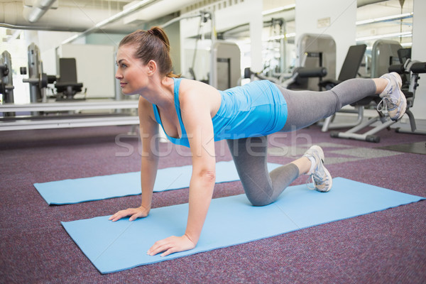 Encajar morena pilates ejercicio mujer deporte Foto stock © wavebreak_media