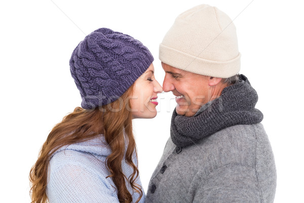 Couple in warm clothing facing each other Stock photo © wavebreak_media