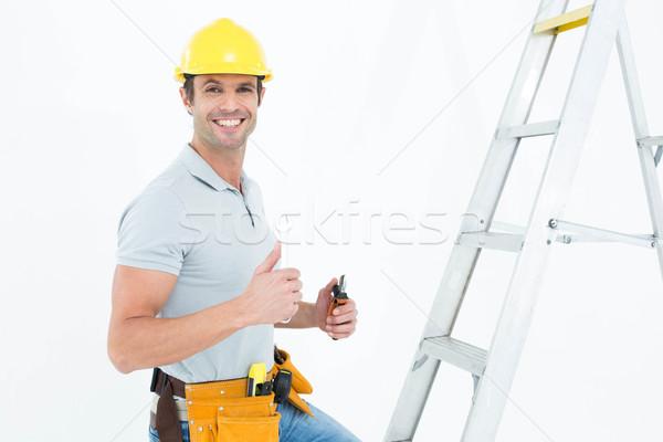 Technicien outils étape échelle Photo stock © wavebreak_media