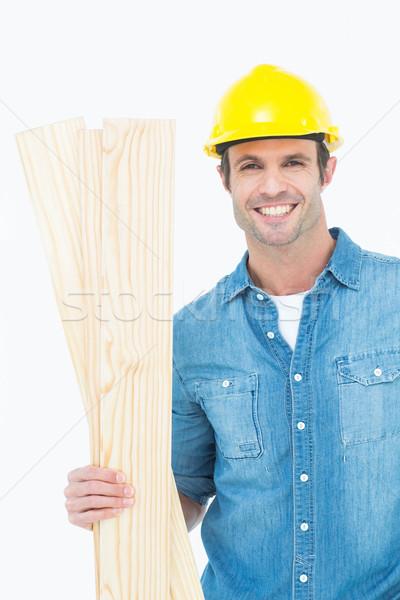 Felice falegname legno ritratto Foto d'archivio © wavebreak_media