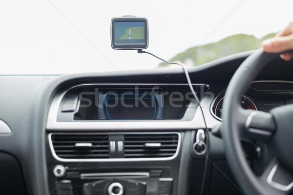 экране спутниковой навигация дороги направлении крупным планом Сток-фото © wavebreak_media
