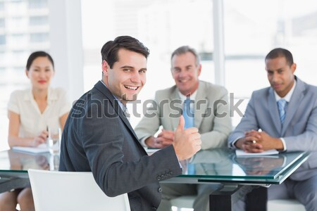 Businessman at work interview Stock photo © wavebreak_media