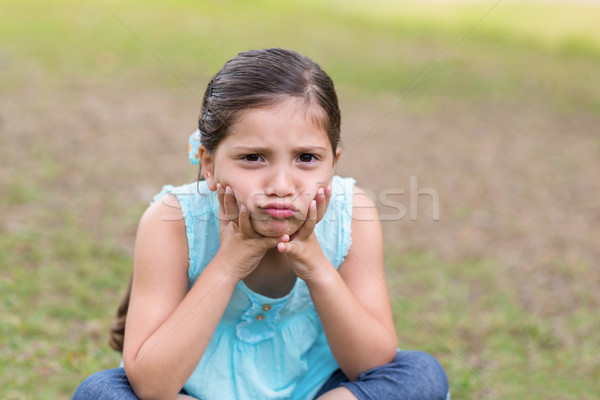 Little boy feeling sad in the park Stock photo © wavebreak_media