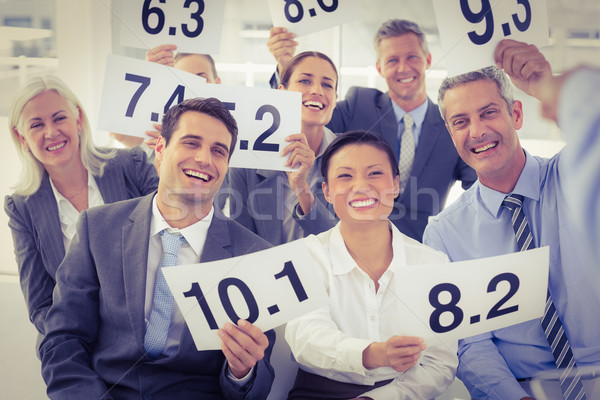 Entrevista panel puntuación tarjetas oficina Foto stock © wavebreak_media
