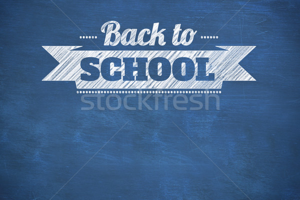 Composite image of back to school message Stock photo © wavebreak_media