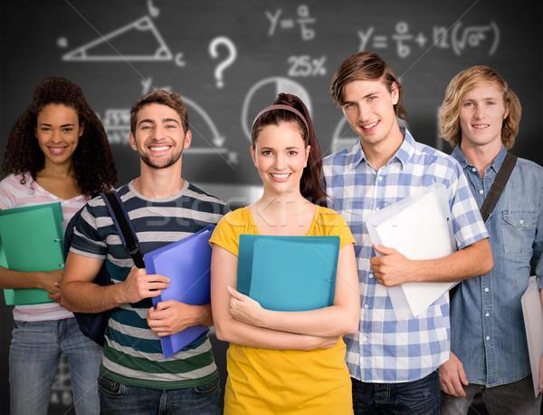 összetett kép diákok tart mappák főiskola Stock fotó © wavebreak_media